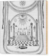 Washington Masonic Apron Wood Print