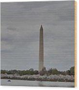 Washington Monument - Cherry Blossoms - Washington Dc - 011312 Wood Print by DC Photographer