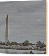 Washington Monument - Cherry Blossoms - Washington Dc - 011313 Wood Print by DC Photographer
