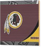 Washington Redskins Wood Print