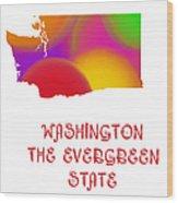 Washington State Map Collection 2 Wood Print