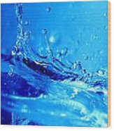 Water Splash Wood Print