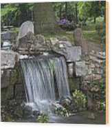 waterfall in park Klarenbeek in Arnhem Netherlands Wood Print
