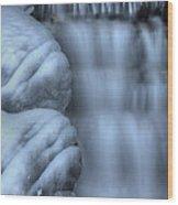 Waterfall Near Johnston Canyon Alberta Wood Print