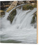 Waterfall - Zion National Park Wood Print