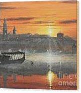 Wawel Sunrise Krakow Wood Print