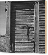 Weathered Door With Hanging Chain Wood Print
