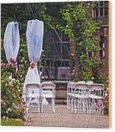 Wedding Arrangement In De Haar Castle. Utrecht Wood Print