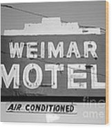 Weimar Motel Sign Wood Print