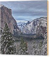 Welcome To Yosemite Wood Print