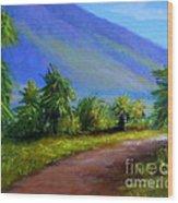 West Maui Mountains Wood Print