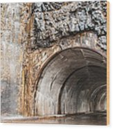 West Tunnel On Going To The Sun Road Wood Print