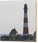 Westerhebersand Lighthouse - North Sea - Germany Wood Print
