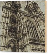 Westminster Abbey London Vintage Wood Print
