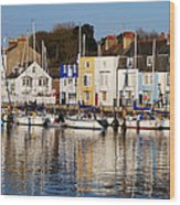 Weymouth In The Water Wood Print