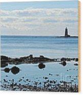 Whaleback Lighthouse Wood Print