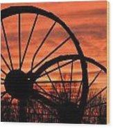 Wheel-n-axle Sunset.. Wood Print