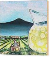 When Life Gives You Lemons Wood Print by Shana Rowe Jackson