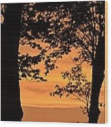 When The Sun Goes Down Wood Print
