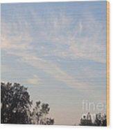Whispy Clouds Wood Print