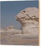 White Desert Wood Print