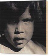 White Mountain Apache Girl Rodeo White River Arizona 1969-1984 Wood Print