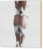 White Ribbons Wood Print