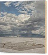 White Sands Rain Wood Print