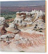 Whites Sandstone Buttes Wood Print
