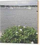 Wickford Harbor Wood Print