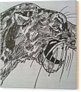 Wild Cheetah Wood Print