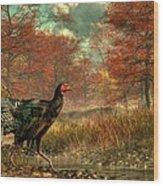 Wild Turkey Wood Print by Daniel Eskridge