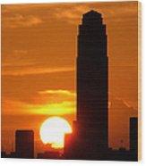 Williams Tower Sunset Wood Print