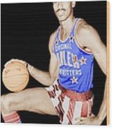 Wilt Chamberlain As A Member Of The Harlem Globetrotters  Wood Print