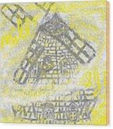 Windmill Wood Print by Joe Dillon
