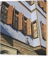 Window Shutters Wood Print