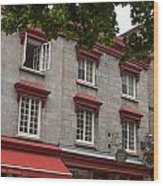 Windows Of Quebec City  Wood Print
