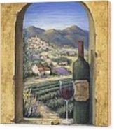 Wine And Lavender Wood Print