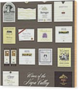 Wines Of The Napa Valley - Series 5 Wood Print