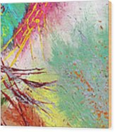 Modern Abstract Diptych Part 2 Wood Print