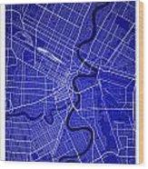 Winnipeg Street Map - Winnipeg Canada Road Map Art On Colored Ba Wood Print