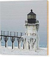 Winter At St Joseph's Light Wood Print