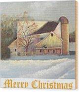 Winter Hush Holiday Card1 Wood Print