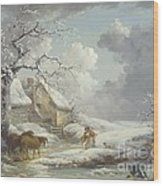 Winter Landscape Wood Print by Pg Reproductions