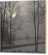 Winter Sunset In Kedron Valley II Wood Print