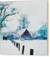 Winter Tales Tnm Wood Print