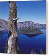 Wizard Island Wood Print