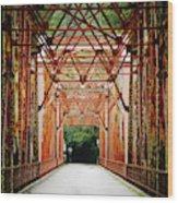 Wohler Bridge Over The Russian River Wood Print