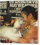 Woman's Boxing Champion Filipino American Ana Julaton Wood Print by Jim Fitzpatrick