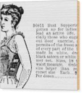 Women's Fashion, 1895 Wood Print